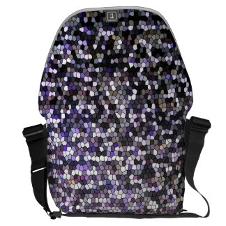 Very Cool Sparkly Silver Stained Glass Pattern Messenger Bags