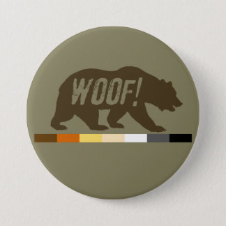 Very Cool Woof Gay Bears Pride Flag 7.5 Cm Round Badge