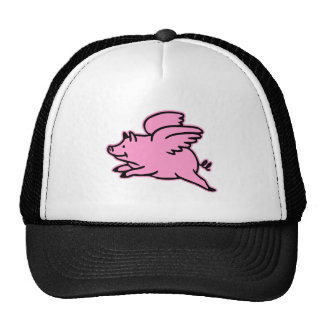 Very Cute Flying Pink Pig Mesh Hats