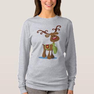 Very Cute Reindeer Christmas   Sleeve Shirt