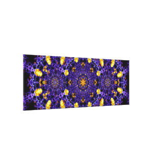 Very Detailed Panoramic Mandala Canvas Print