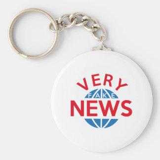 Very Fake News Key Ring