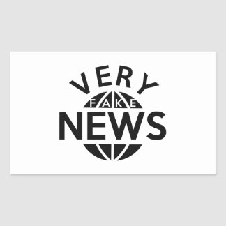 Very Fake News Rectangular Sticker