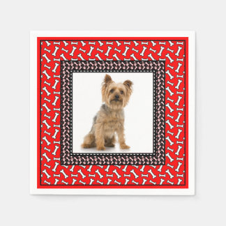 Very Fancy Dog's Birthday Party Add Pet's Photo Disposable Napkin