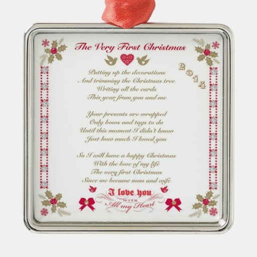Very First Christmas Dated Husband/Wife Ornament