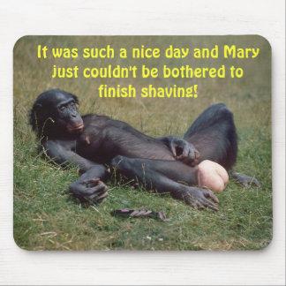 Very Funny Bonobo Ape Mousepad / Mousemat