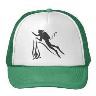 Very Funny SCUBA Diver Mesh Hats