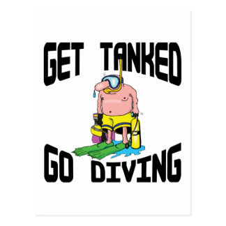 Very Funny SCUBA Diving Post Card