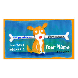 very happy dog profile card business card templates