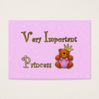 Very Important Princess - papershop Business Card