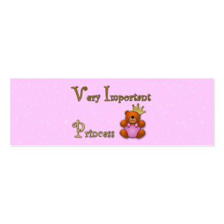 Very Important Princess - papershop Pack Of Skinny Business Cards