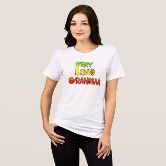 Very Loved Grandma Colorful Text Shirt