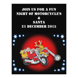 Very Merry Christmas from this Biker Santa 21.5 Cm X 28 Cm Flyer