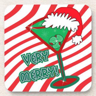 Very Merry! Christmas Martini Coasters