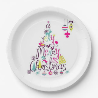 Very Merry Christmas Paper Plates