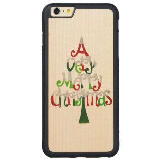 Very Merry Christmas Tree Carved® Maple iPhone 6 Plus Bumper Case