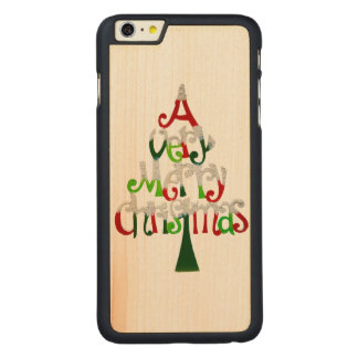 Very Merry Christmas Tree Carved® Maple iPhone 6 Plus Case