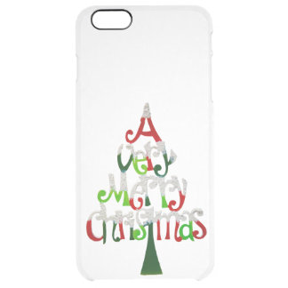 Very Merry Christmas Tree Clear iPhone 6 Plus Case
