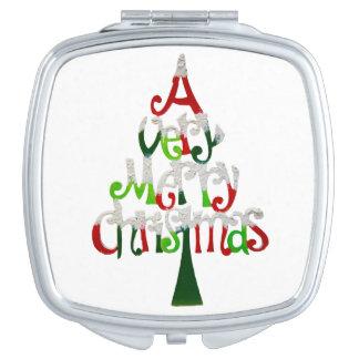 Very Merry Christmas Tree Compact Mirror