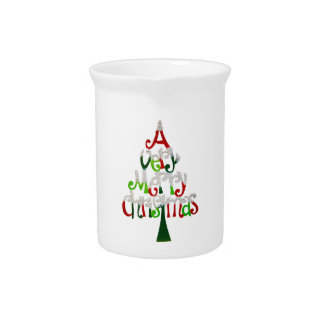 Very Merry Christmas Tree Drink Pitchers