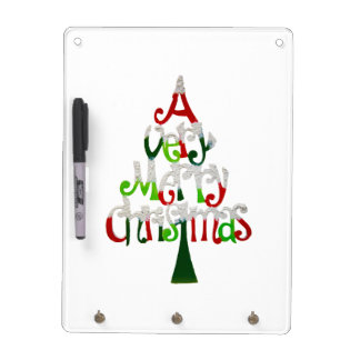 Very Merry Christmas Tree Dry Erase Board