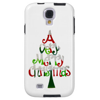 Very Merry Christmas Tree Galaxy S4 Case
