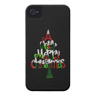 Very Merry Christmas Tree iPhone 4 Case-Mate Cases