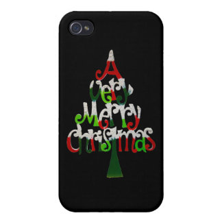 Very Merry Christmas Tree iPhone 4 Covers