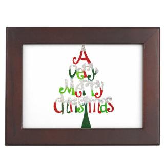 Very Merry Christmas Tree Keepsake Box