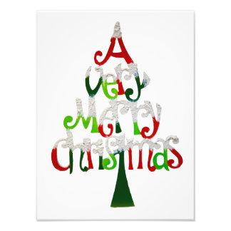 Very Merry Christmas Tree Photo Print