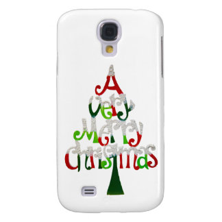 Very Merry Christmas Tree Samsung Galaxy S4 Cover