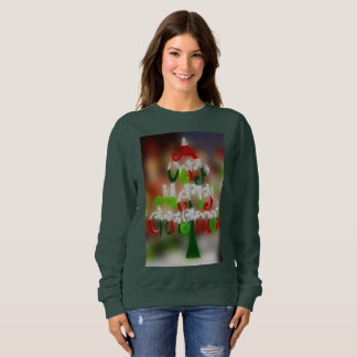very merry christmas womens sweatshirt