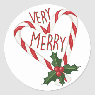 Very Merry Round Sticker