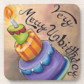 Very Merry Unbirthday Coaster Alice in Wonderland