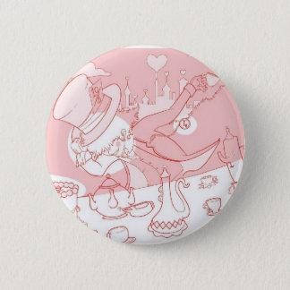 Very Merry Unbirthday Mad Hatter 6 Cm Round Badge