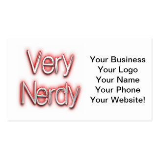 Very Nerdy Red Pack Of Standard Business Cards