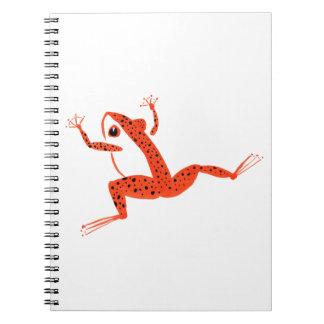 Very Orange Frog Spiral Note Book