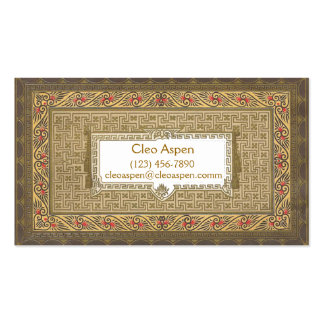 Very Ornate Business Cards
