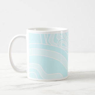 Very Pale Blue Art Deco Style Background Design. Mug