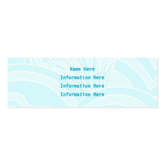 Very Pale Blue Art Deco Style Background Design. Pack Of Skinny Business Cards