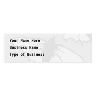 Very Pale Gray Butterfly Background Design. Pack Of Skinny Business Cards
