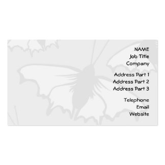 Very Pale Gray Butterfly Background Design. Business Card Template