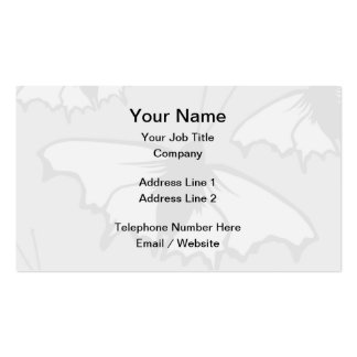 Very Pale Gray Butterfly Background Design. Pack Of Standard Business Cards