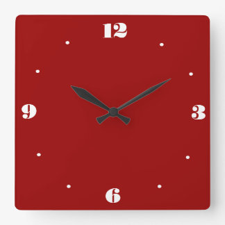 Very Plain Red and White > Kitchen Clocks