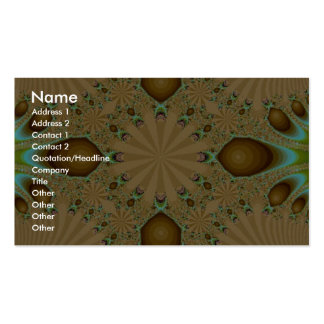 Very pretty Fractal Pack Of Standard Business Cards