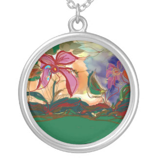 Very Pretty Pink >  Flowers Necklace