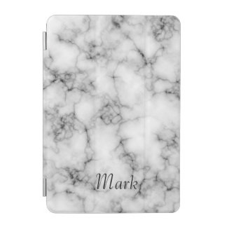 Very realistic White Marble Custom Monogram iPad Mini Cover