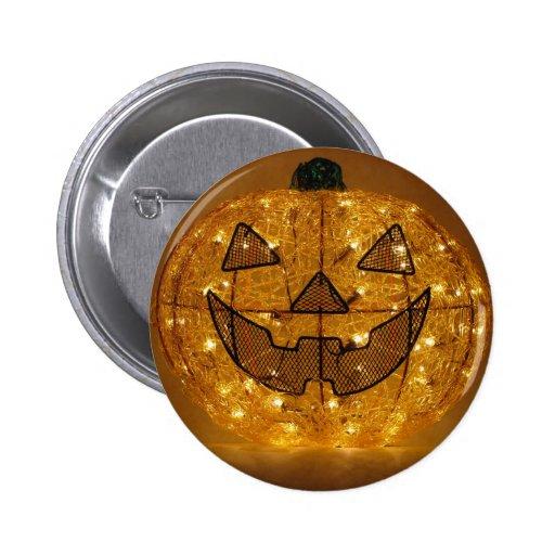 Very Scary Halloween Pumpkin Button