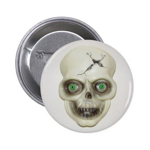 Very Scary Halloween Skull Button