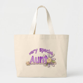 Very Special Aunt Flower Large Tote Bag